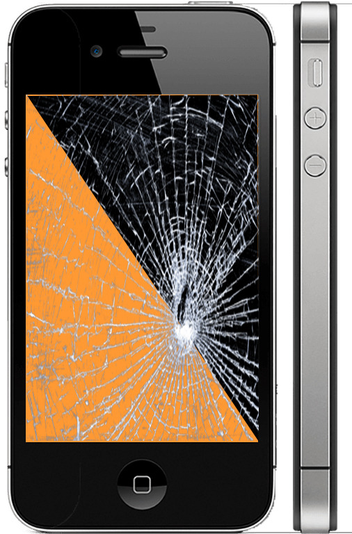 Замена дисплея  и стекла айфон 4